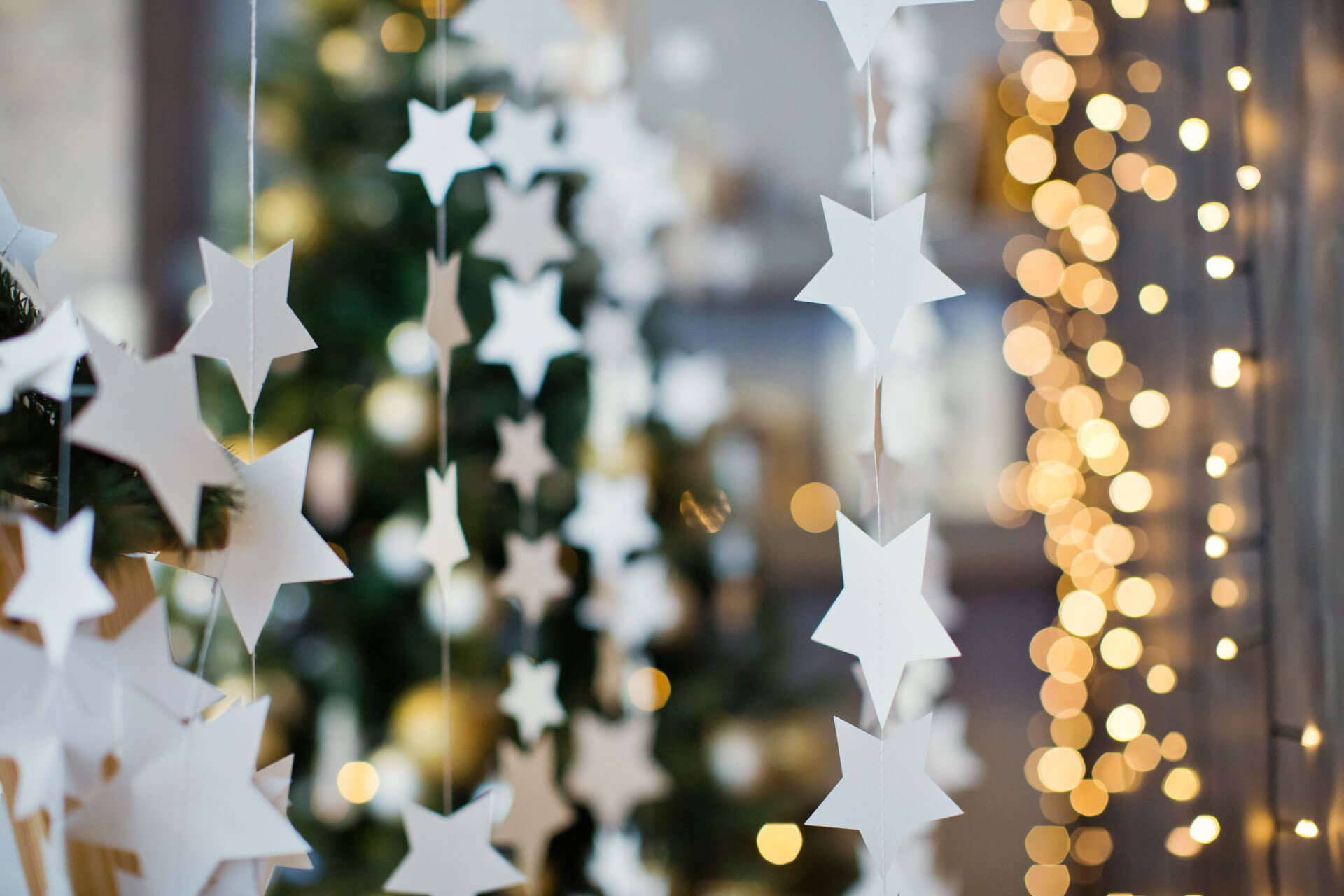 DIY Garland and Hanging Stars