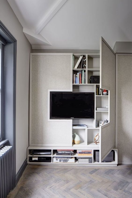 Living Room Storage Ideas - Behind The Entertainment Unit
