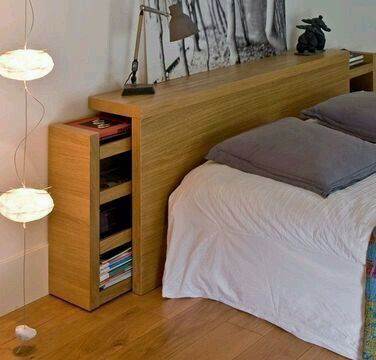 Bedroom Storage - Vertical Storage At The Headboard