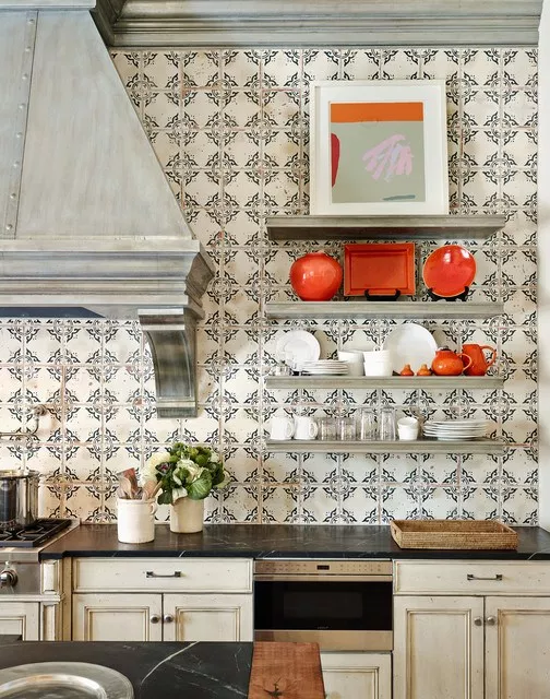 Patterned backsplashes for kitchends is trending