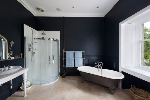 Bold Black Bathroom Interiors Trend