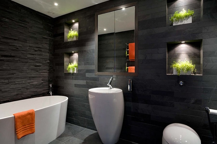 Black Bathroom Interiors Trending