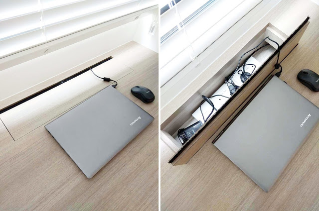 Manage electrical cords in home office