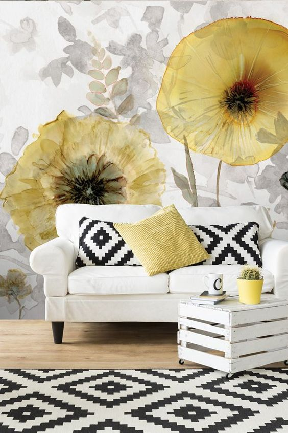 Big Flowers - Floral Wallpapers for Livingroom