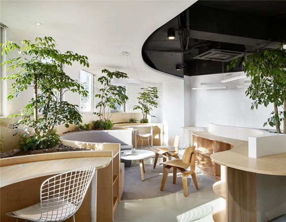 Zen Style Office Interiors Trend