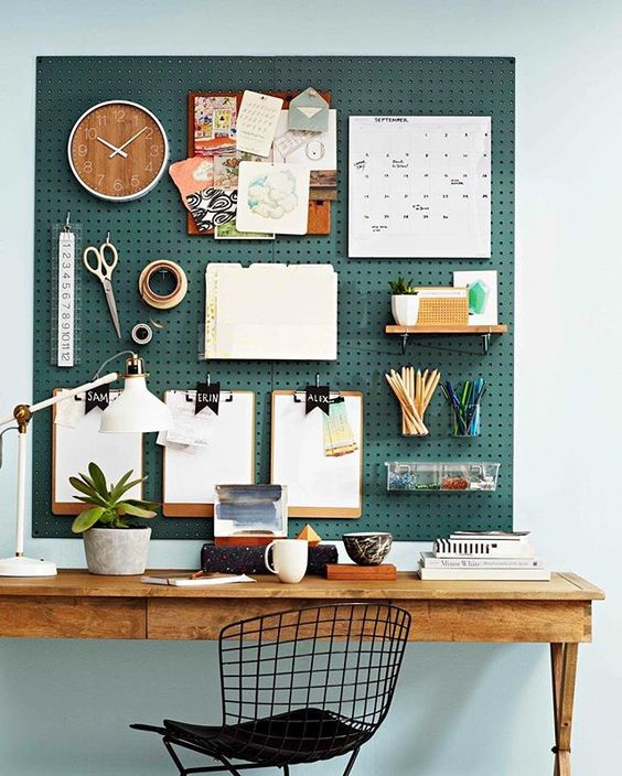 Pegboards in home office study