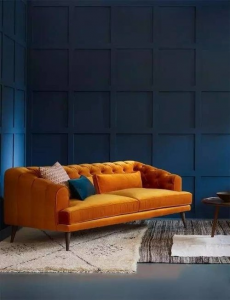 Amber Orage Jewel Tone Sofa