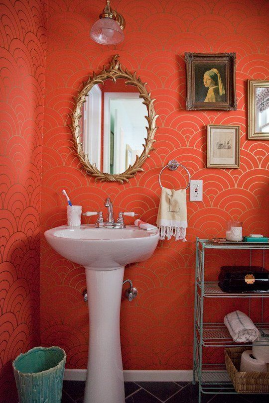 Coral Bathroom
