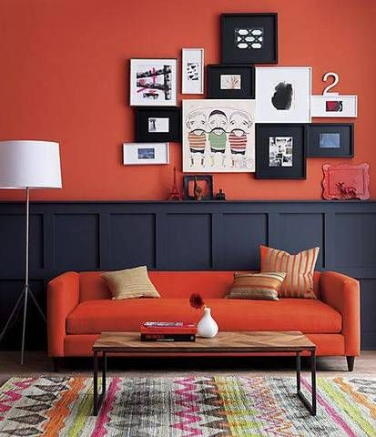 Furnishings in Coral Colour