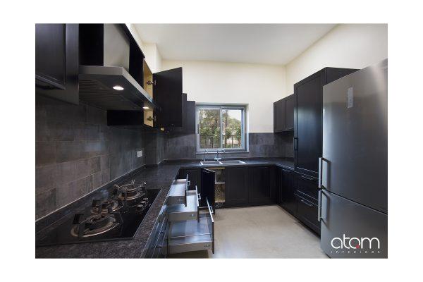 Gothic U-shaped Kitchen Interiors