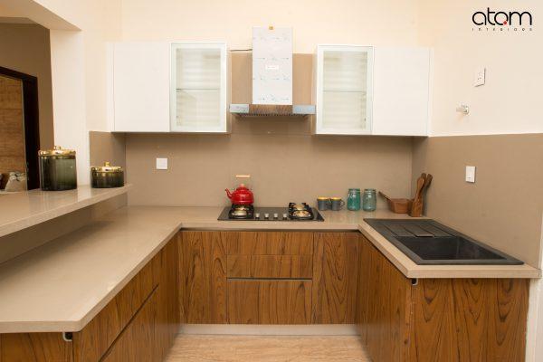 Mid-century Modern Kitchen with Breakfast Counter