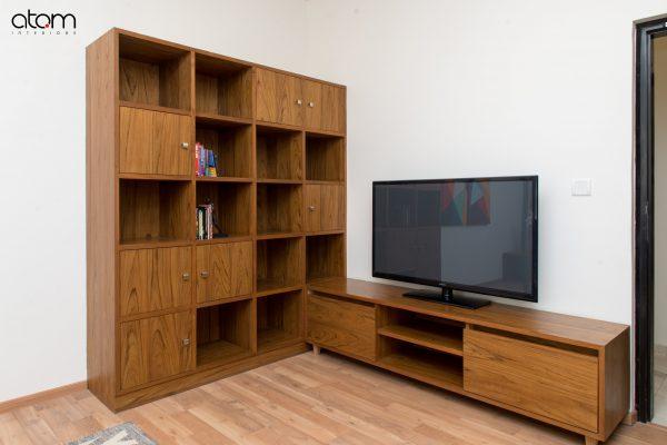 Mid-century Modern TV with Display Unit