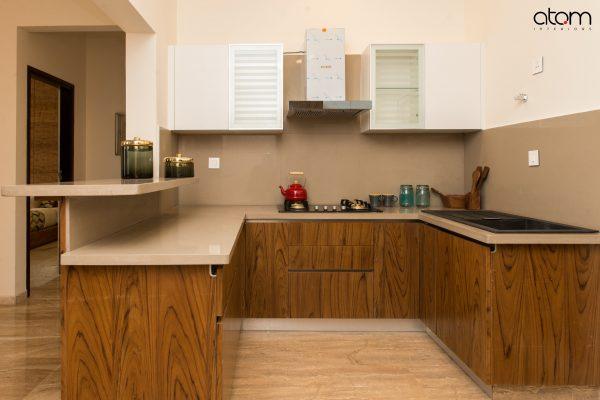 Mid-century Modern U-shaped Kitchen