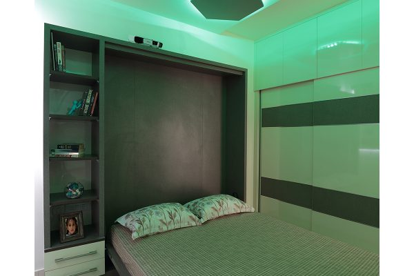 Neo Classic Bedroom with Automated False Ceiling Lights