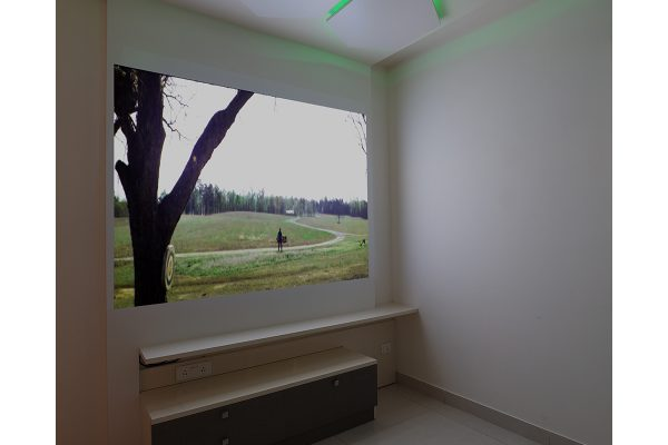 Neo Classic Bedroom with Projector Wall