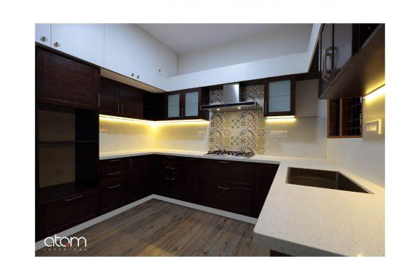 Renovated Rustic U-shaped Kitchen