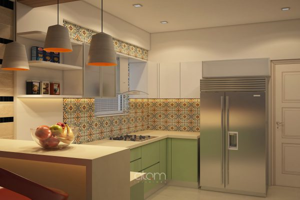 U Shaped Kitchen With Breakfast Counter