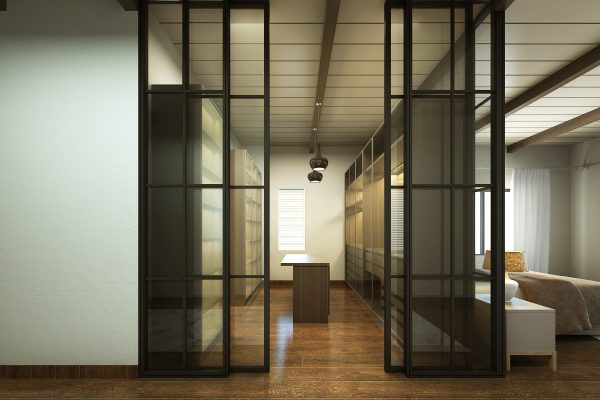 Ultra Modern Walk-in Wardrobe
